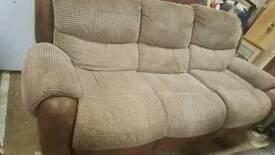 Reclainer 3 seater sofa