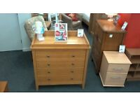 Modern light wood chest of drawers. BRITISH HEART FOUNDATION
