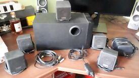 Creative Labs/Cambridge Soundworks 5.1 surround sound speaker system for PC, black.