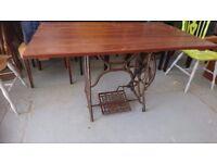 Sewing machine base pub table