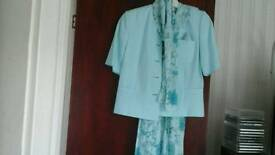 Ladies occasion outfit aqua 5 pc size 10