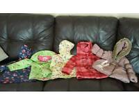 Bundle of girls coats 12-18 months