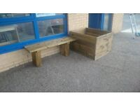 TIMBER BENCHES - new - assembled - delivered - installed