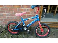 Boys spiderman bike.