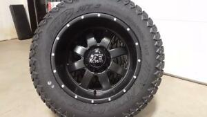 NEW 20x12 WHEEL TIRE COMBO! ONLY $2489/SET!! FORD CHEV GMC DODGE RAM