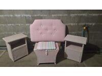 Girls bedroom furniture, headboard and bedside tables