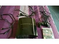 PS3 80GB with Cables and Controller