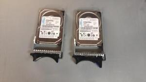 LOT OF 2 IBM 73GB 10K SAS HS HDD 39R7366 40K1052 with tray