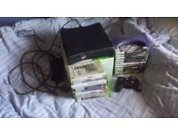 Xbox 360 4gb 120gb hard drive 26 games 1 controller hdmi cable