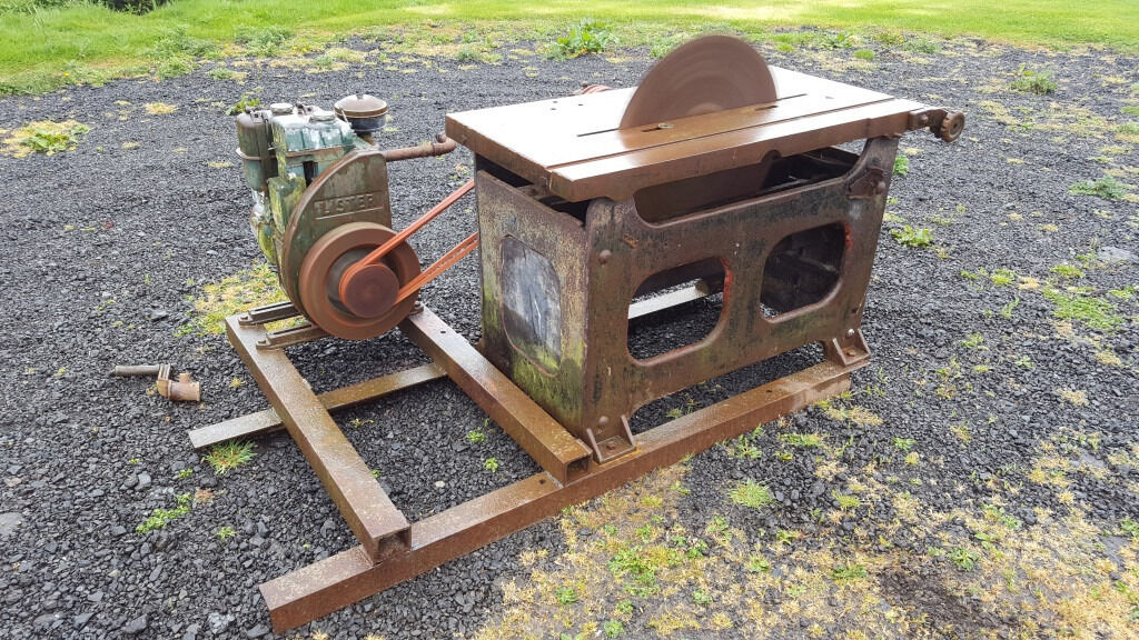 Saw Bench For Sale Diesel Lister Engine In Leven