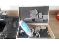 Nicky Clarke Male Grooming Hair Clippers With Various Size Guards In Aluminium Case