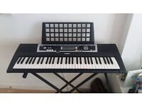 Yamaha YPY-210 portable keyboard with cover and stand . Excellent condition, many features