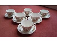 Aynsley Cottage Garden set of 6 cups and saucers