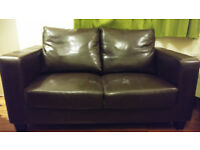 FREE two seat faux leather brown sofa