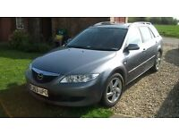 53 PLATE MAZDA 6 ESTATE, LONG MOT, USED DAILY, WELL MAINTAINED, VERY RELIABLE.