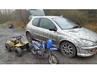 Peugeot 206 gti hdi 110bhp spares or repairs