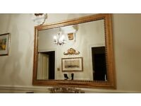 Barker and Stonehouse large gold mirror