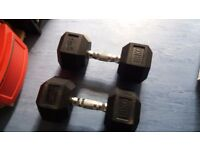 dumbell pair 18 kg house clearance