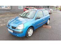 2003 Renault Clio Authentique 1.1 Petrol 6 Month MOT 57000 Miles Full Service History.