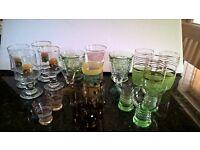 22 RETRO VINTAGE DRINKING GLASSES GOBLETS WINE SHERRY