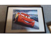 Lightning Mqueen framed prints