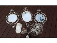vintage bundle mirrors lighting