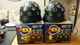Adj Tri mini disco ball lights x 2