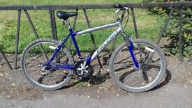 """18 Speed Front Suspension Mountain Bike Bicycle. Guaranteed & Fully Serviced. 21"""" Frame"""