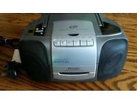 CD radio cassette player portable