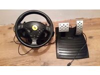 Ferrari Thrustmaster playstation 2 steering wheel sport tuning for professionals!
