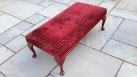 Large upholstered foot stool