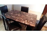 Dinning Table 120 x 76 cm with 4 Chairs