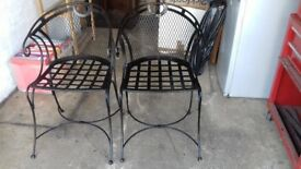 Wrought iron chairs suitable for bedroom or outdoors
