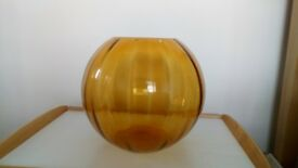 Large Amber glass bowl