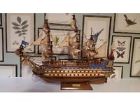 ship model from 1669 THE Soleil royal