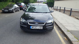 2007 ford focus 1.6 black 5dr hatchback manual petrol mot September2018 full service history