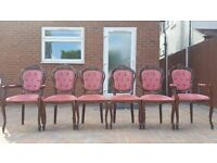 Set of 6 Italian dining chairs - good condition