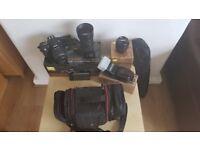 Nikon D3100 DSLR Digital Camera With 3 Lenses