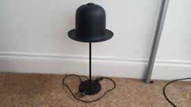 retro/funky modern table lamp. bowler hat style, about 600mm tall.