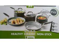 Greenpan pot and pan set