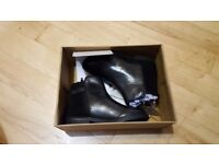 Black leather girls boots size 12 (child) - brand new, John Lewis