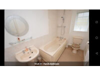 Bathroom Sink/Basin - peach coloured
