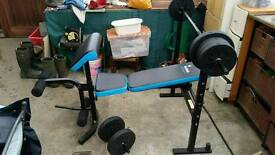 Bench press and cross trainer