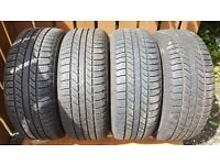 Full set of Goodyear Wrangler 255 x 55 x 19 Jeep Tyres (Runflats)