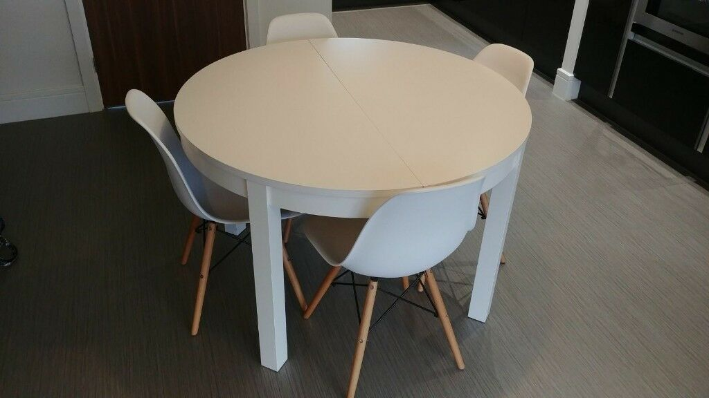 Ikea White Round Extending Dining Table