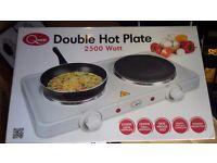Portable double hotplate