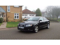 AUDI A4 1.9 TDI S LINE TDV 4d 116 BHP 18 INCH ALLOYS, FULL YEAR MOT SERVICE RECORD, PRIVACY GLASS