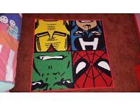Marvel Characters Super Heroes bedroom rug