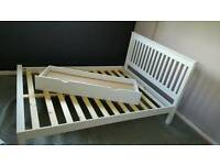Argos white wooden bed with drawer