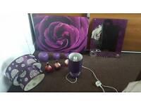 Purple/plum home accessories